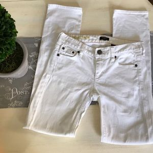 J. Crew matchstick stretch white pants 24/s